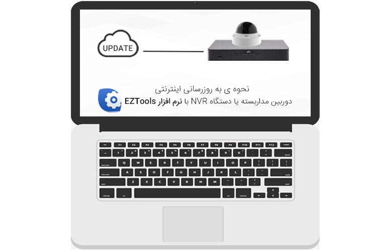 نحوه ی به روزرسانی اینترنتی دستگاه ضبط تصویر یا دوربین مداربسته تحت شبکه بوسیله نرم افزار EZTools