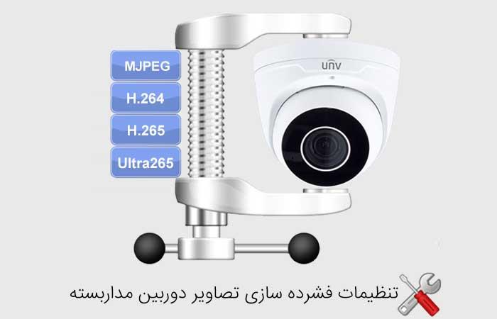 تنظیمات فشرده سازی تصاویر دوربین های مداربسته